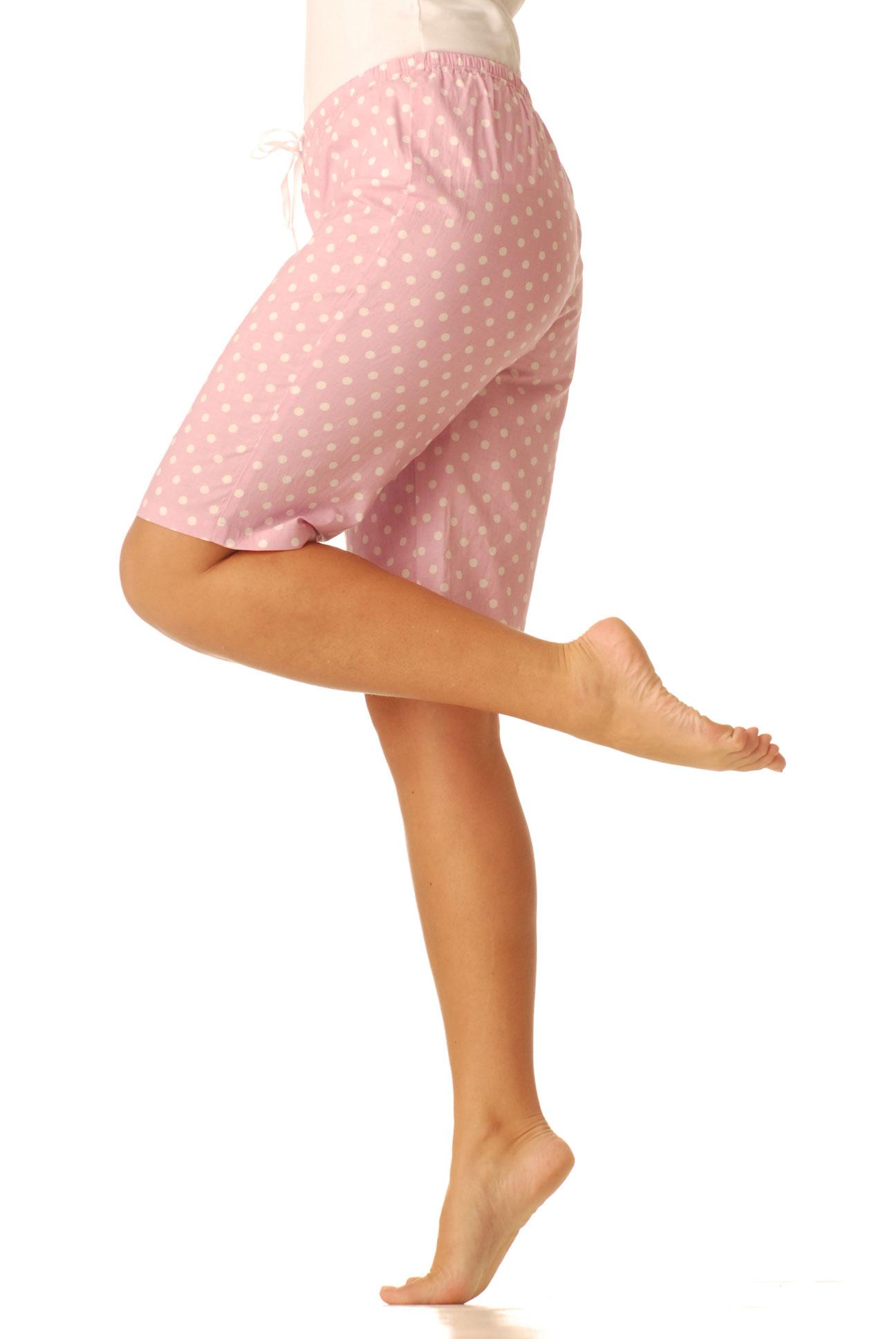 Dámské kraťasy - růžový puntík