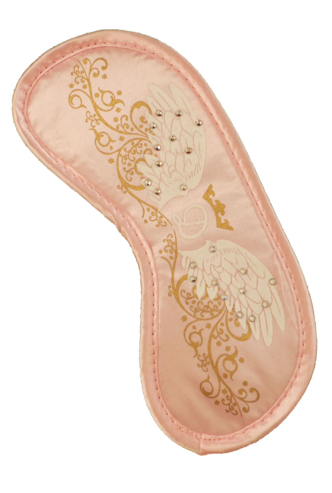 Maska na spaní - Swarovski crystal růžová