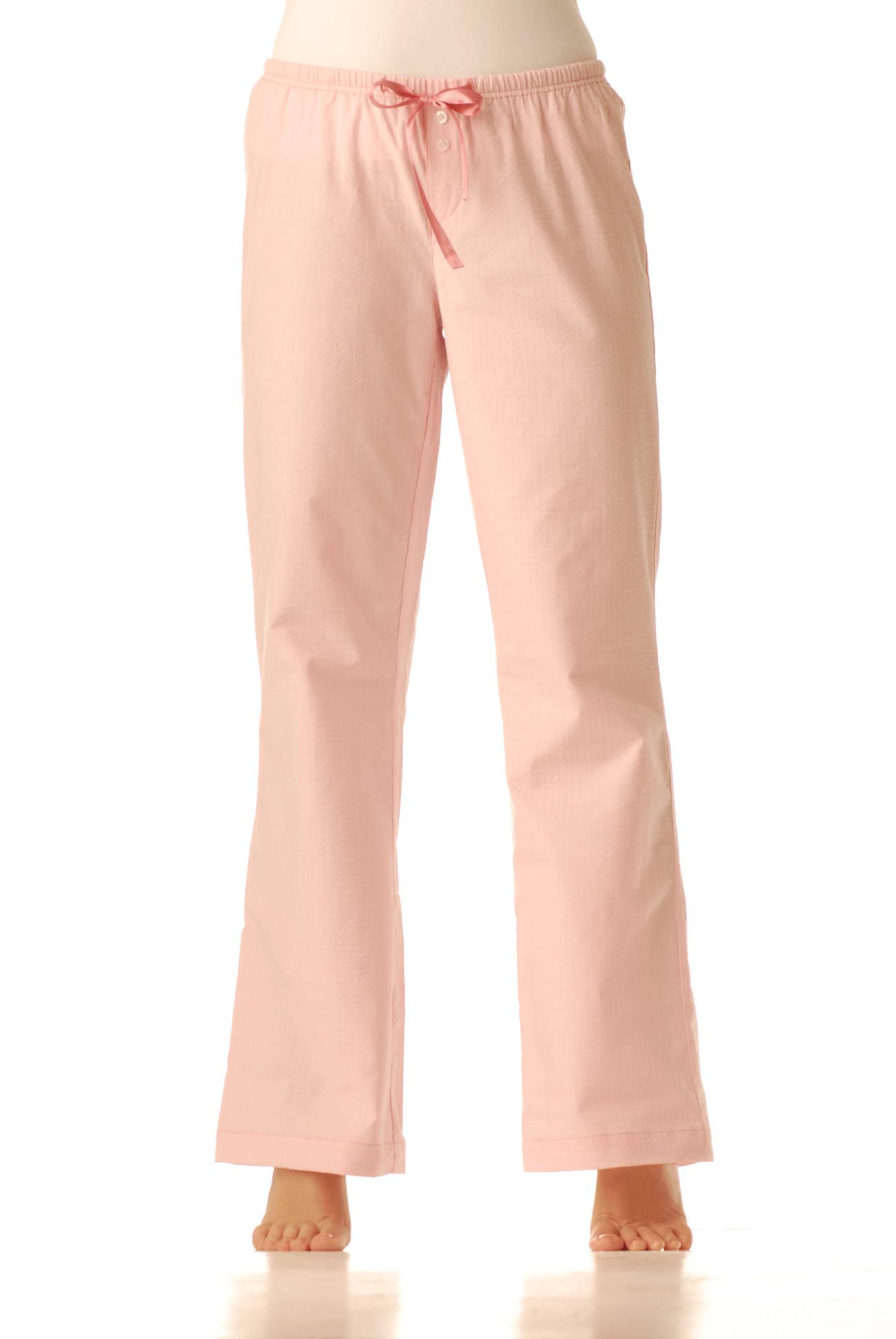 Pyžamové kalhoty - Krep růžový