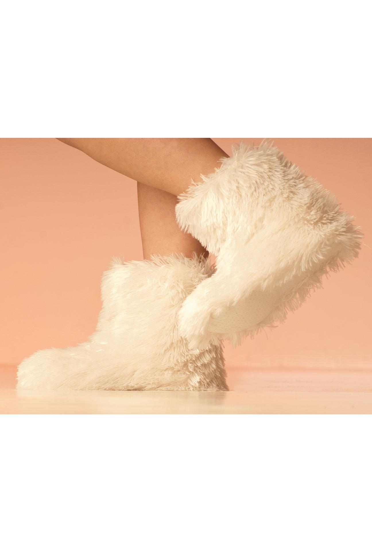 Papuče – Bílé chlupatiny