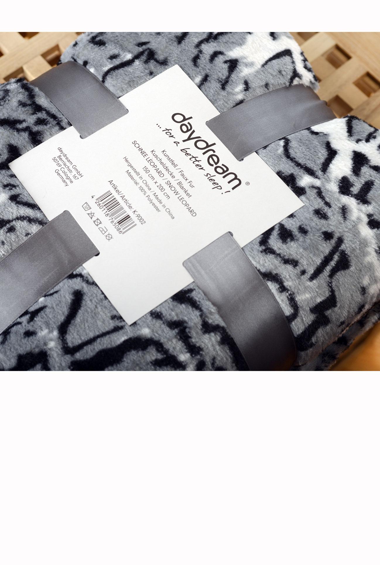 Deka z umělé kožešiny  - Leopard