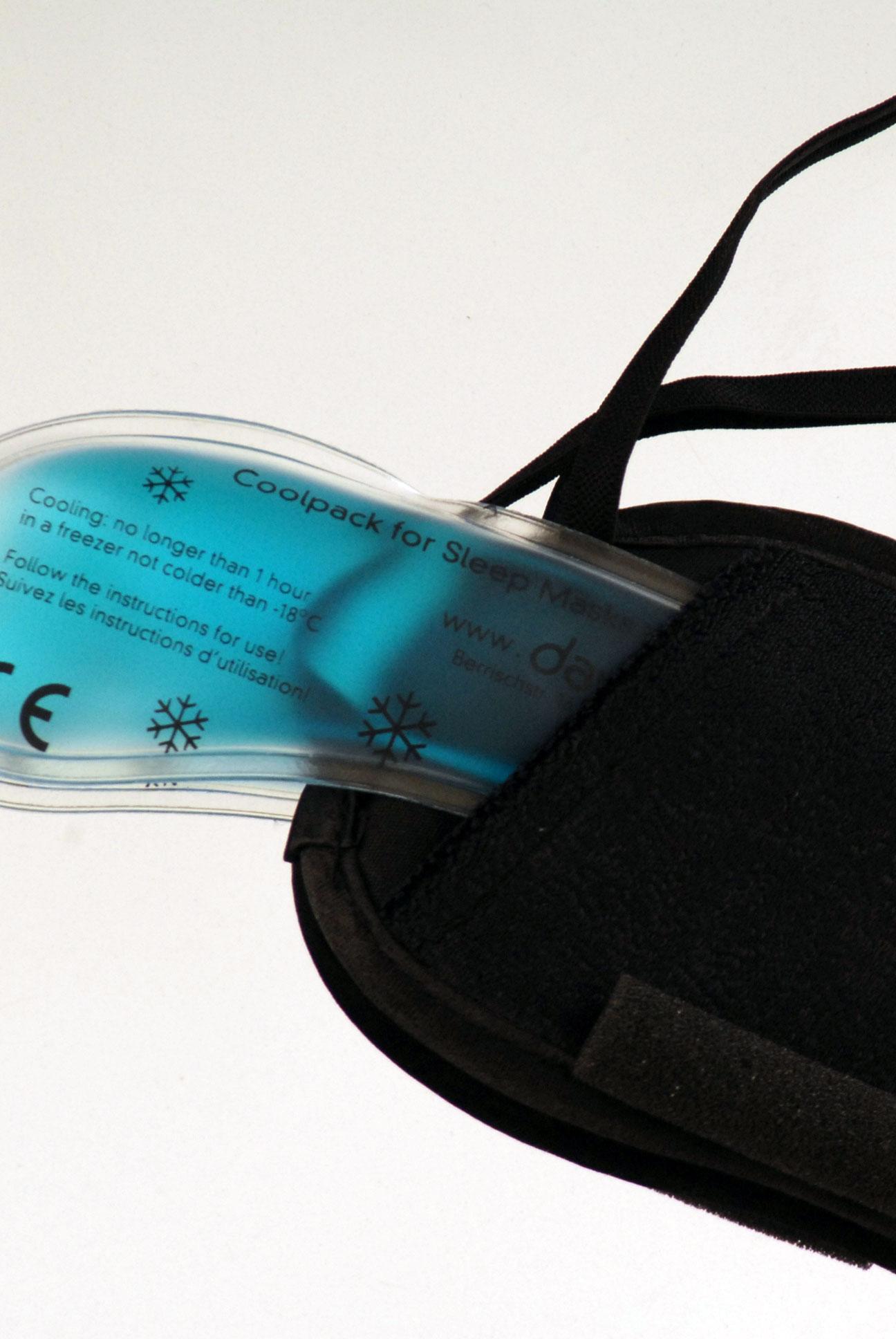 Maska na spaní - Černá paisley