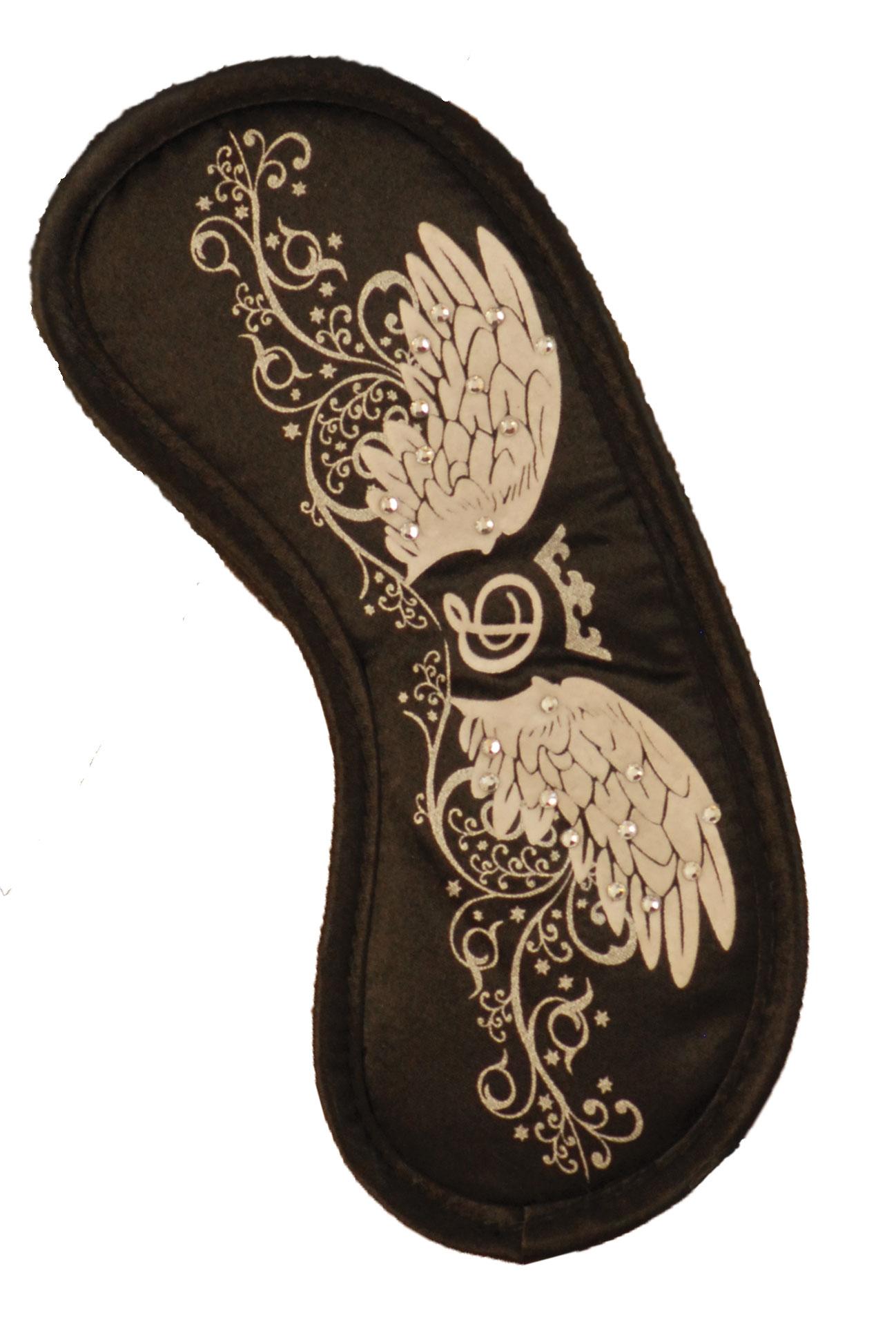Maska na spaní - Swarovski crystal černá